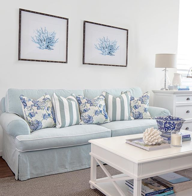 If you've been into our store lately you would have seen our new Boston sofa gracing centre stage in our front window. This is a slip covered sofa in the prettiest hue. In store only #hamptonsstyle