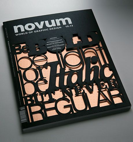 Delicate laser cutting on eyecatching cover - Iggesund