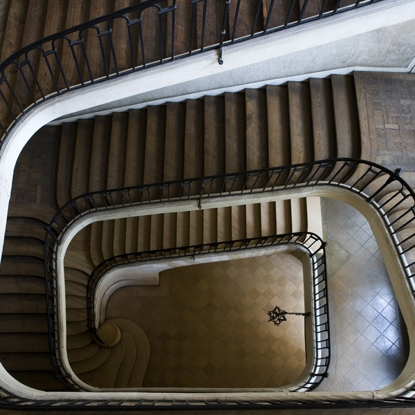 """From The TV Show """"Castle,"""" The Staircase Photo Behind The"""