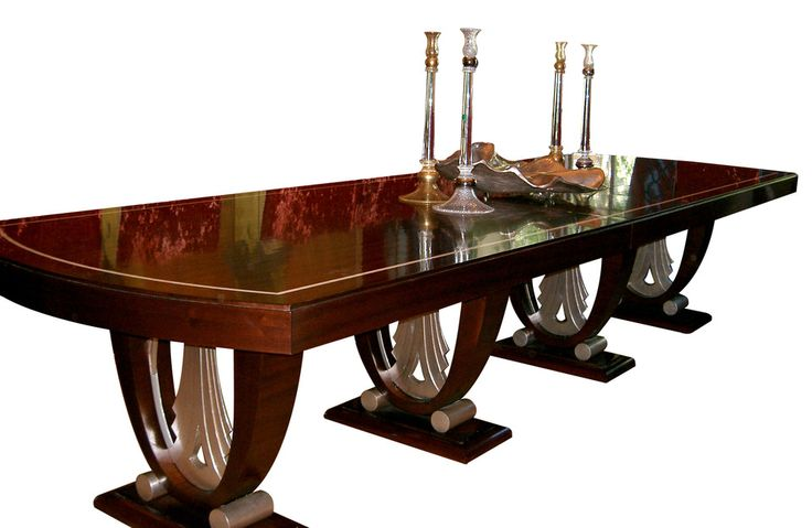 art deco dining room:gorgeous daniel scuderi art deco dining table in ruhlmann style furniture dining room tables wood art deco sofas art deco interior design minimalism