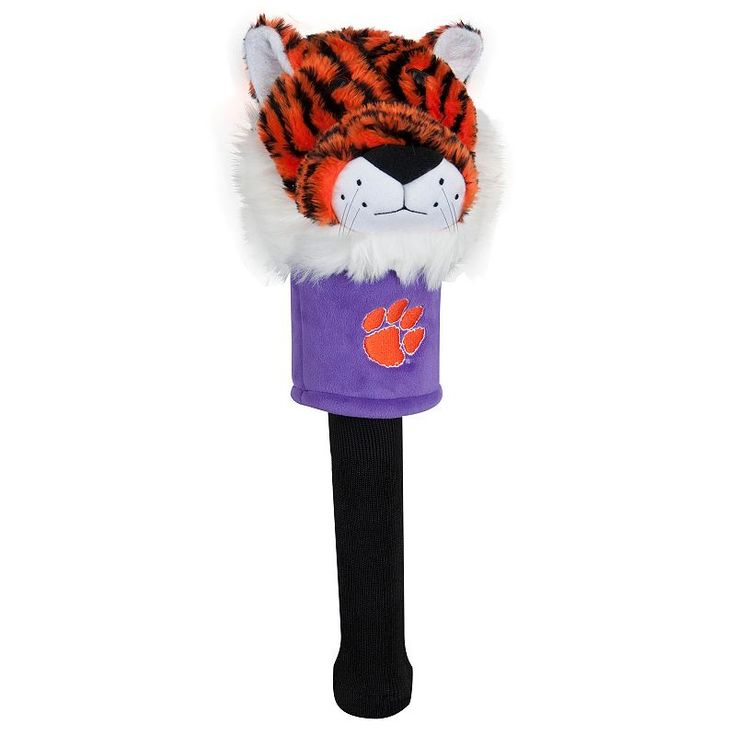 Team Effort Clemson Tigers Mascot Sock Driver Headcover, Multicolor