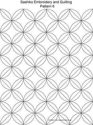 Sashiko Pattern 2: Sashiko Pattern 6