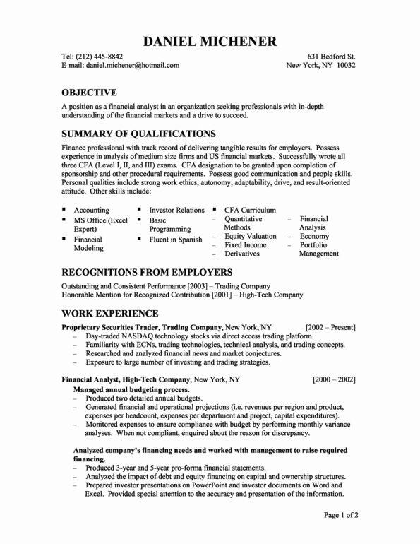 Entry Level Analyst Resume Fresh Entry Level Financial Analyst Resume Business Analyst Resume Cover Letter For Resume Job Resume Samples