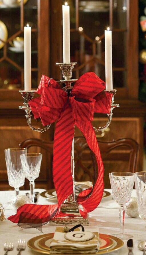 Lovely Elegant Christmas Table Settings Ideas