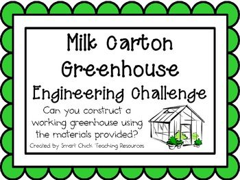 Milk Carton Greenhouse: Engineering Challenge Project ~ Just use the idea to inspire your child to complete the challenge. You do not have to buy this.