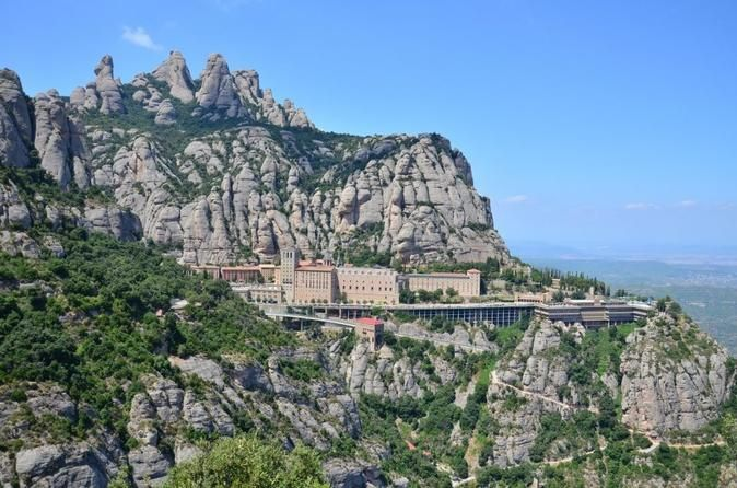 Montserrat 7-hour Private Tour from Barcelona with Lunch  Enjoy this 7-hour private tour of Montserrat with lunch included. Visit the Santa María de Montserrat Abbey and see the Virgin of Montserrat. Listen to the children's choir of L'Escolania de Montserrat, one of the most famous boy-choirs in Europe. An optional bonus of some hiking in this amazing mountain is also included, making this tour incredibly memorable.Meet your tour guide at your hotel. Take the train and enjoy ...