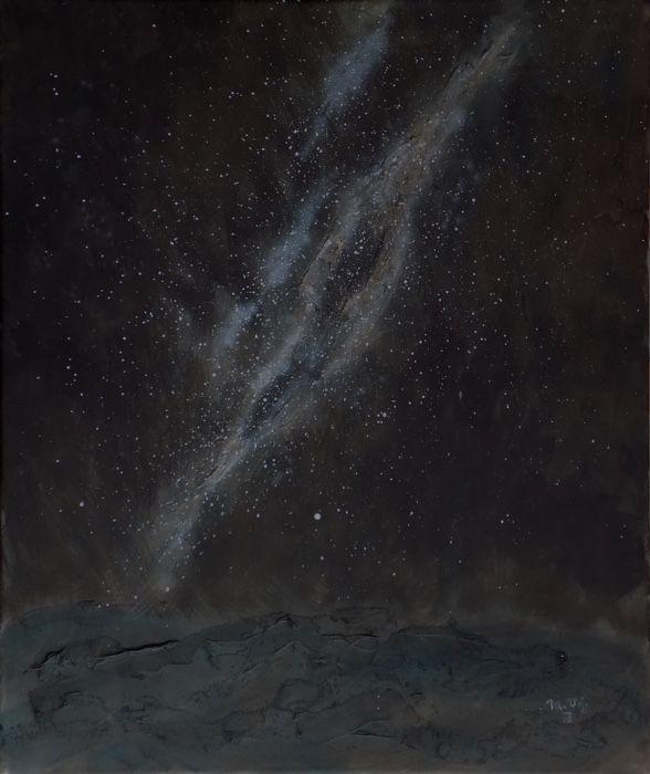 Mléčná dráha (Milky Way) Acrylic on canvas, 50x60cm, © Mirek Vojáček