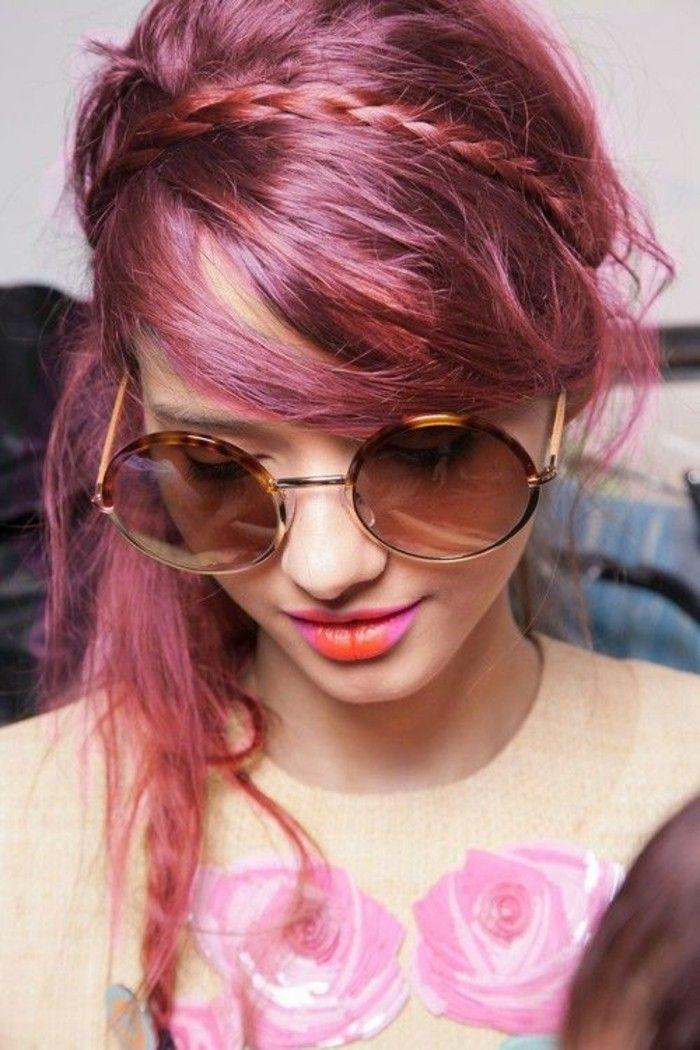 coiffure coiff dcoiff coiffure hippie chic trs trs romantique cheveux framboise effet coiff coloration cheveux coiffures filles tumblr - Coloration Cheveux Framboise