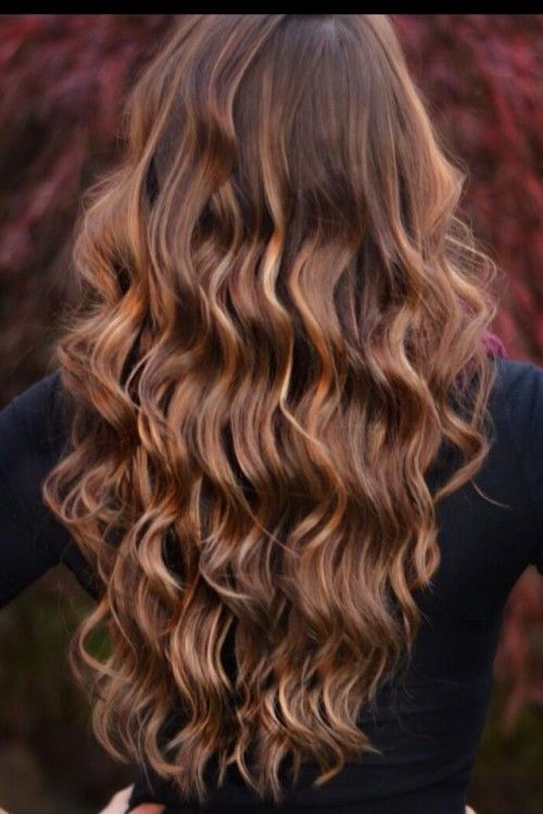Curls With Caramel Highlights
