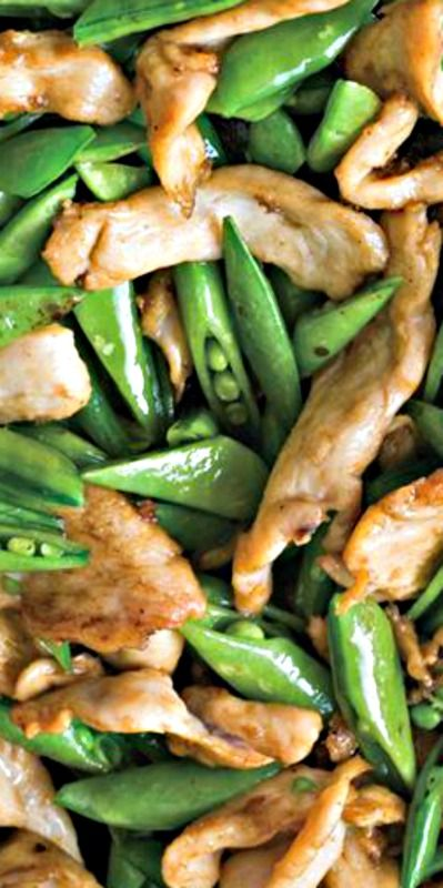 Chicken and Sugar Snap Pea Stir Fry ❊