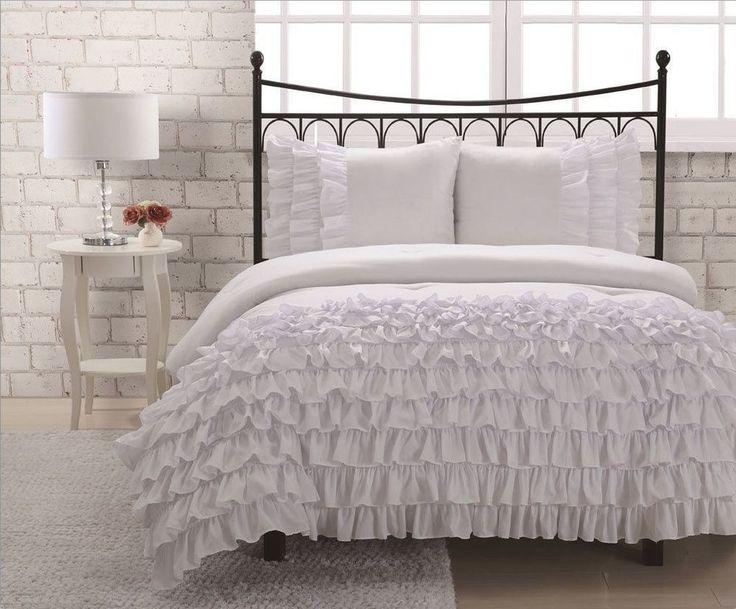 Best 25+ Ruffled comforter ideas on Pinterest | White ...