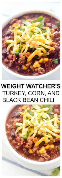 Weight Watcher Smart Points: 6 Weight Watcher's Turkey, Corn and Black Bean Chili - Recipe Diaries