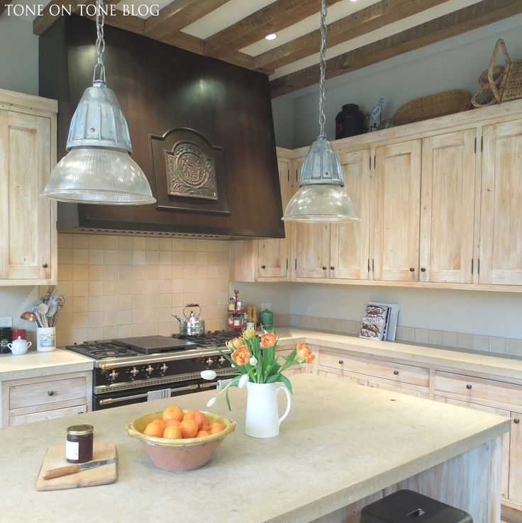 Lovely Tone On Tone: French Style Family Kitchen