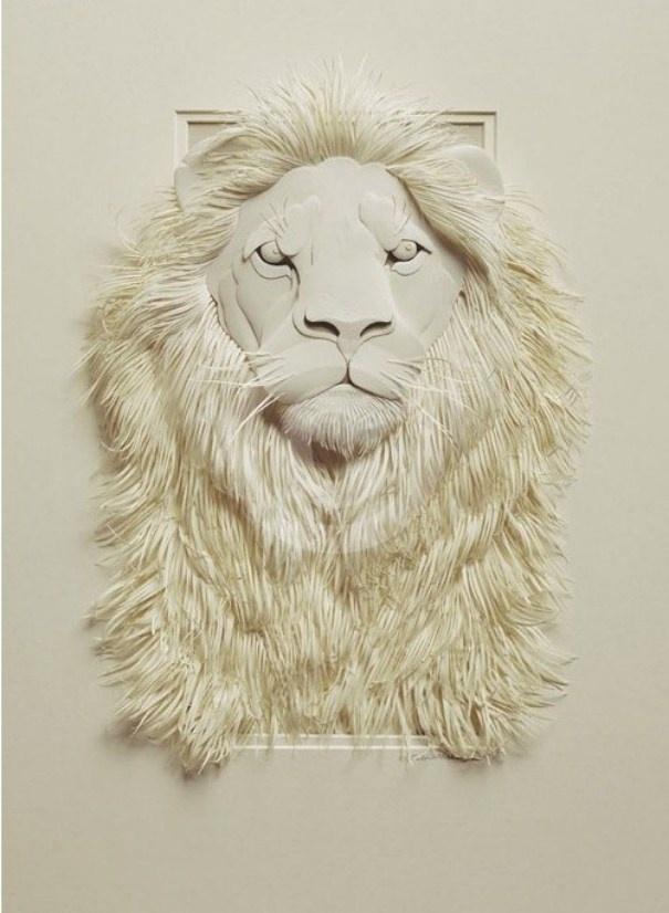 3D paper sculpture - awesome! #lion