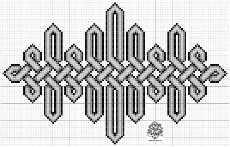 To korssting-mønster, keltiske knuter....