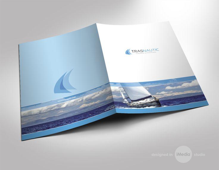 #diseño #carpetas e impresión para la empresa Trasnautic de Denia, Alicante