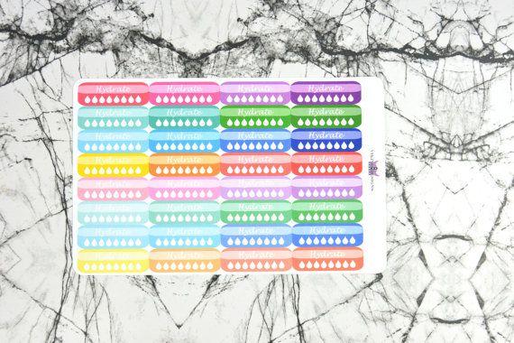 bright colored hydrate stickers