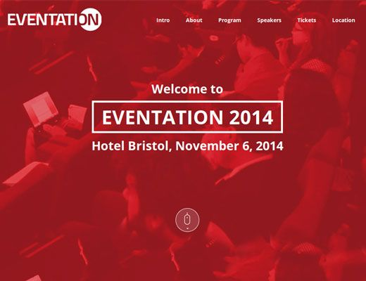 Template 027: Eventation Check out our new responsive templates. Modern, professional and innovative.  #responsive #template #website #webdesign #new #nettside