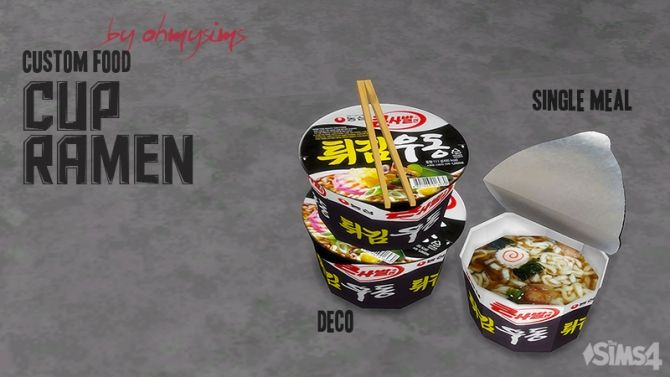 Cup Ramen by ohmysims at Mod The Sims via Sims 4 Updates