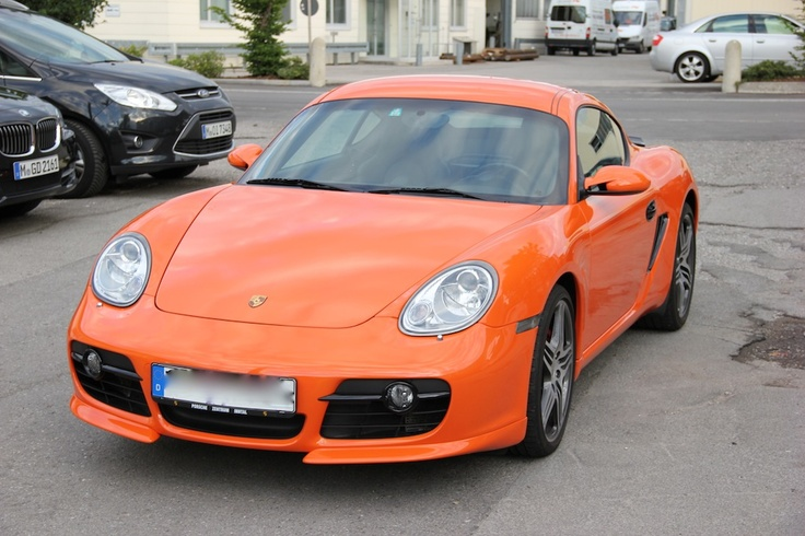 Porsche Cayman Vollbeklebung orange