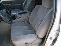 Durafit Seat Covers, C2006 Gray Velour Camo- Chevy Silverado, GMC Sierra Front Captains Chairs With Adjustable Headrests, Side Impact Airbags And One Armrest Per Seat. Drivers Side Electric.