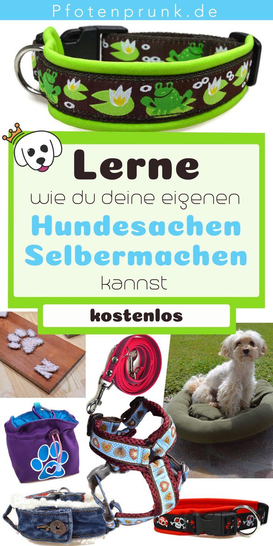 Haciendo cosas de perro tú mismo   – ♥ Pfotenprunk DIY – Anleitungen für Hunde (Hundehalsband, Geschirr, Leine, Basteln, Nähen, Betten, Halsband)