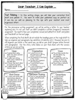 008 Dear Teacher A Persuasive Writing Assignment