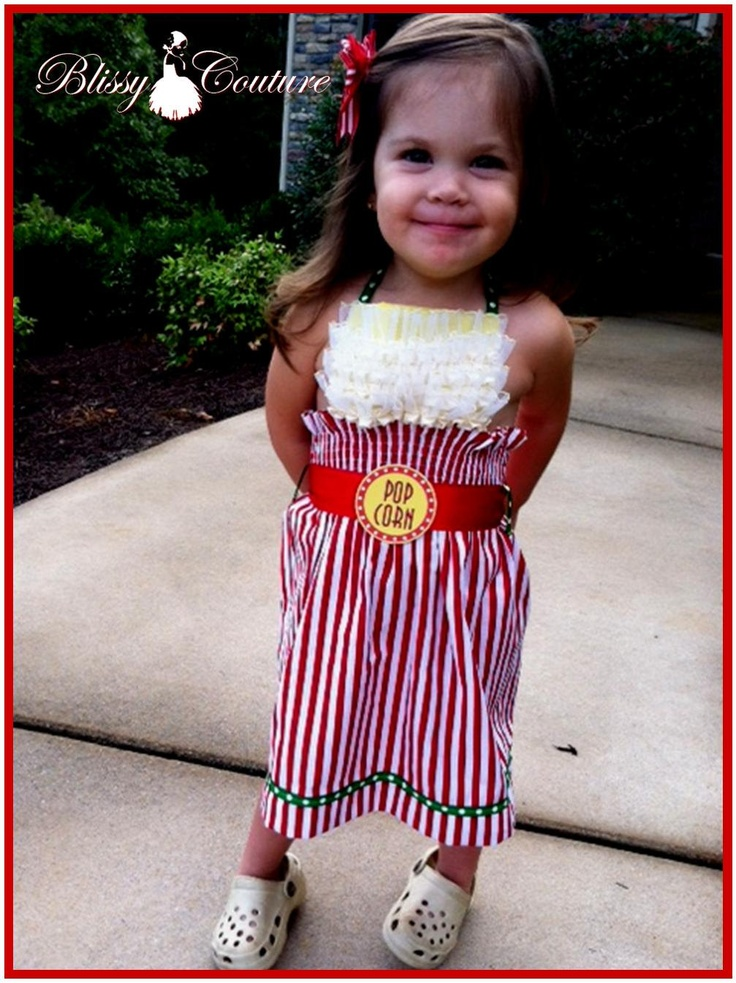 bucket of popcorn dress for pageant halloween costume party and more 4500 via etsy - Pageant Girl Halloween Costume