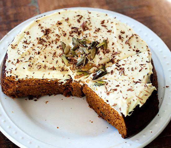 Pumpkin Cake with Eggnog Frosting (FM)