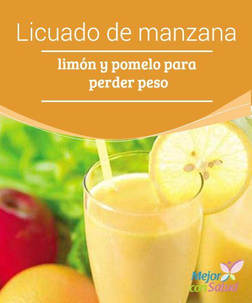 Licuado de manzana, limón y pomelo para perder peso Este