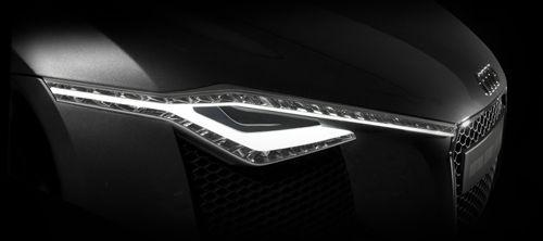 Audi R8 Facelift Image Update: Matrix Beam Light Concept by Audi Designer Christoph Haussinger