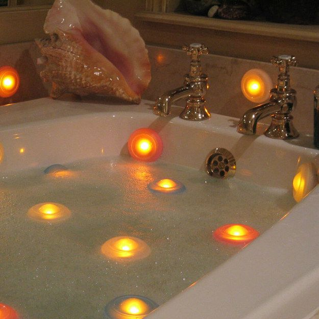 These suction-cup lights that will set the mood for a nighttime shower.