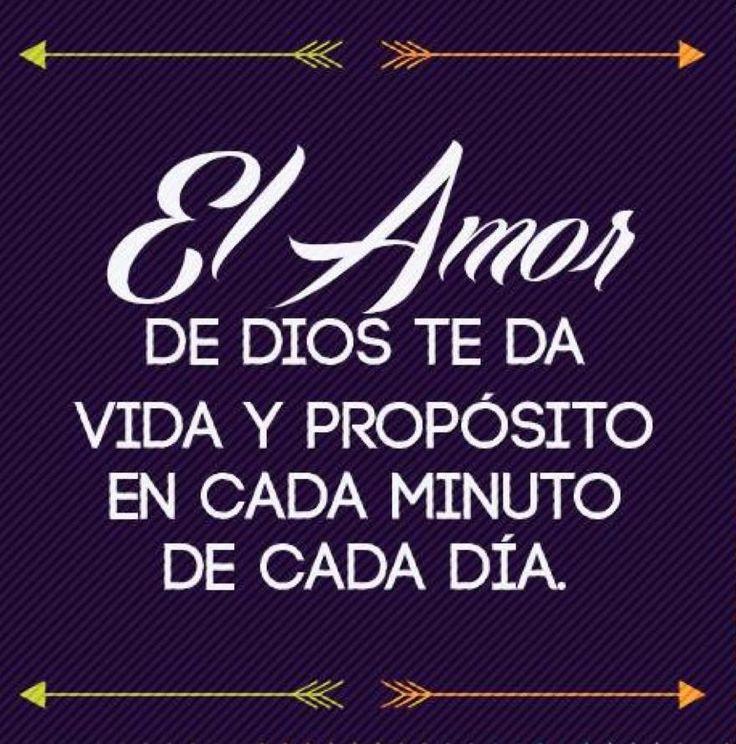 Frases, palabras, amor, vida, español Dios con propósito