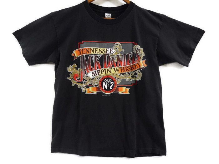 Vintage 90s Jack Daniels Sippin' Whiskey Tee - XL - Tennessee Old No.7 - Whiskey T Shirt - Vintage T-shirts - 1991 - 90s Clothing - by BLACKMAGIKA on Etsy
