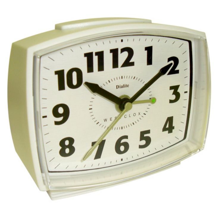 Westclox Electric Powered Analog Alarm Clock - 22192A