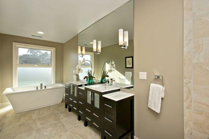 Love this modern bathroom in Noe Valley.