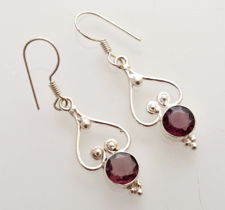 Daily Wear Amethyst Quartz 925 Sterling Silver Earring Gift Ideas For Her A335