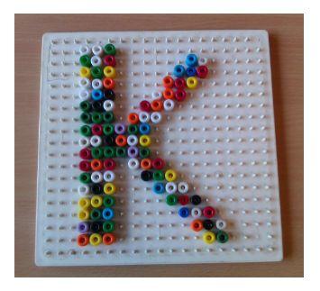 Lessen van Lisa - Taal Letters en cijfers op de kralenplank