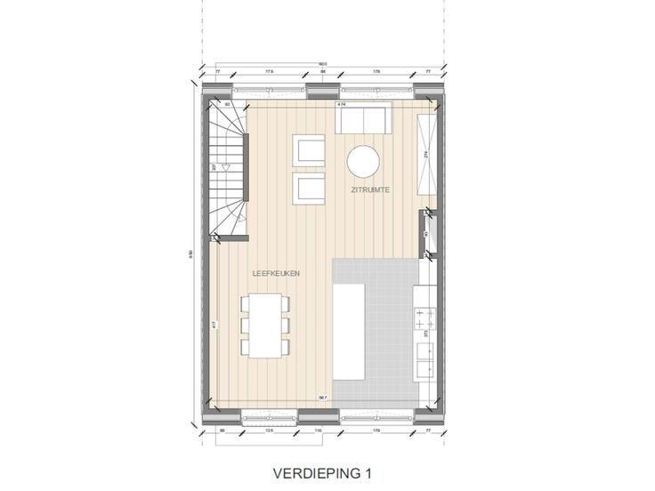 Te koop - Huis 4 slaapkamer(s)  - bewoonbare oppervlakte: 153 m2  - Lot 64 (fase 2) is een gesloten bebouwing op een grondopp. van 150 m². Deze woning is in opbouw en kan tamelijk snel afgewerkt worden. Eigentijdse sti  - bouwjaar: 2017-01-01 00:00:00.0 2 bad(en) -   2 gevel(s) -  2 toilet(ten) -