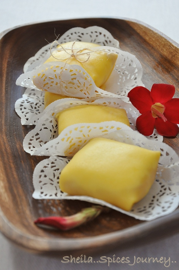 Durian Cream Crepe
