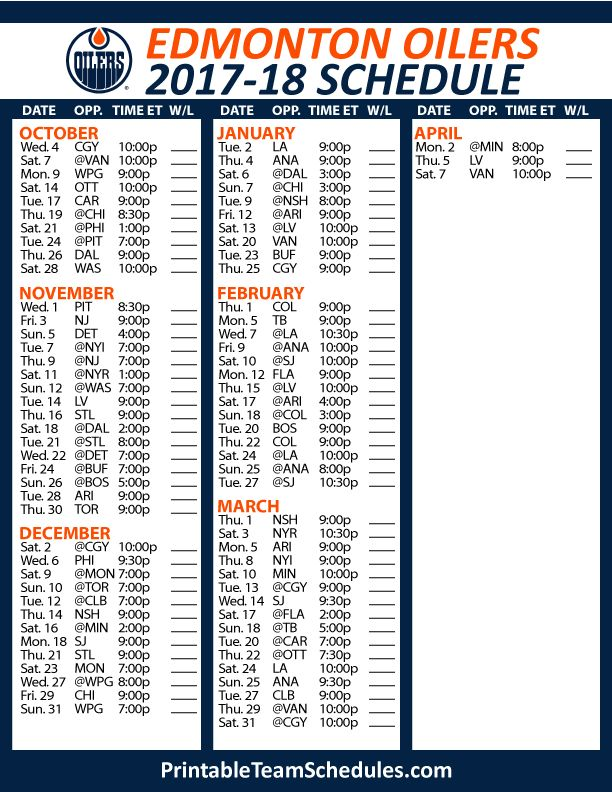 32 best NHL Hockey Schedule 2017 - 2018 images on ...