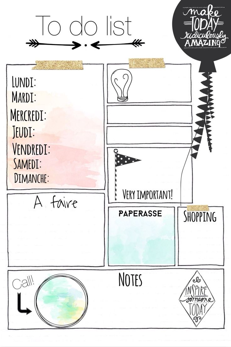 Préférence 25+ unique To do list notebook ideas on Pinterest | Daily  UJ23
