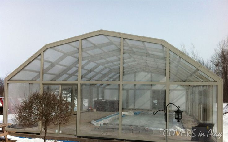 Our aTriple Peak retractable pool enclosure 42 ft wide x 54 ft long , with 3 bays and 6 windows with flyscreens. http://www.coversinplay.com/articles.html#Facts #FastestSwimmer #PoolCover #Cover #Enclosure  #IndoorPools #SwimmingPool #SinglePeak