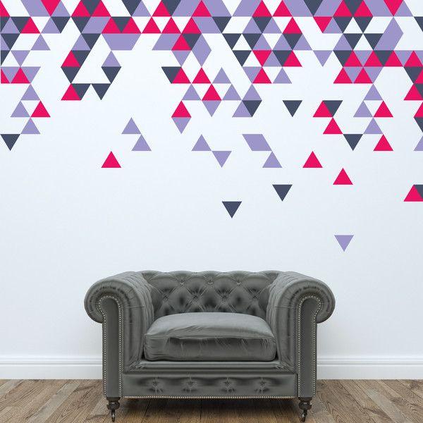 Custom geometric triangle wall stickers. http://www.wallboss.co.uk/pages/office-branding