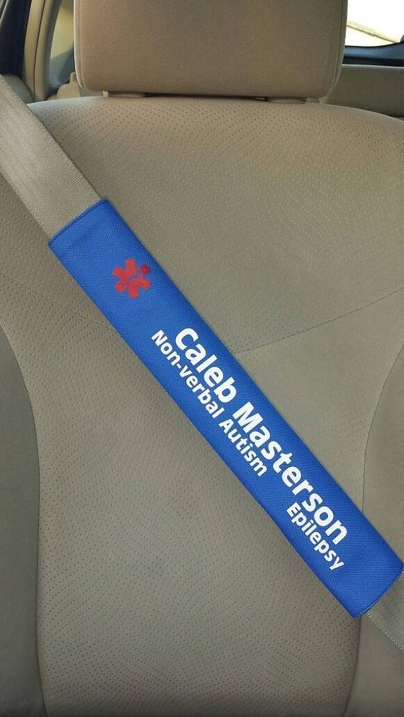 Special Needs Seatbelt Cover  Autism Seatbelt by PuzzlePieceShop