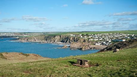 Looking towards Hope Cove from Bolt Tail, South Devon
