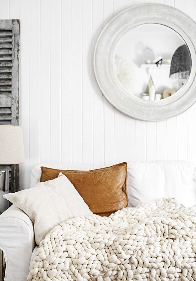 The Giant Oversized Chunky Knit Throw Blanket - Find out where to buy one (or make your own!) - living room