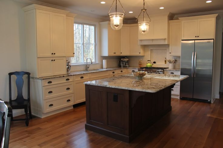 Granite White Alaska Delicatus Cabinets Brookhaven In