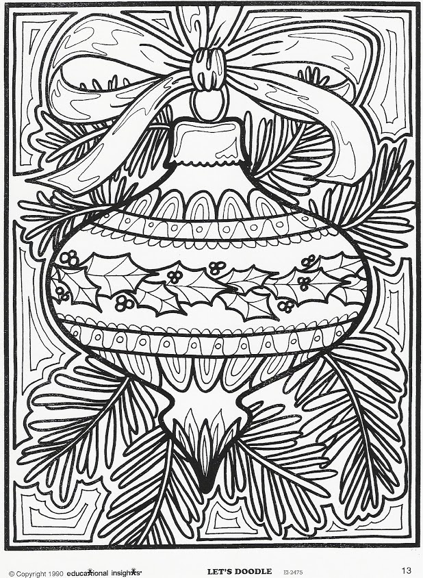 more christmas coloring pages - photo#24