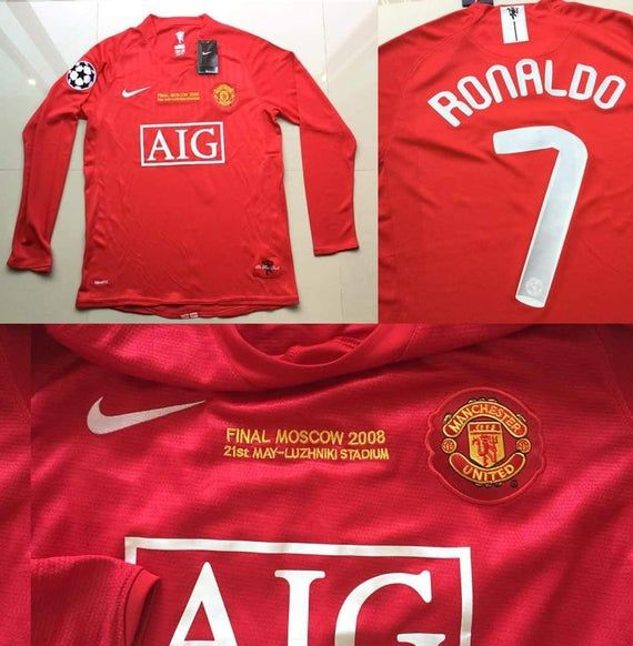 Manchester United 2008 Champions League Final Moscow Long Etsy In 2020 Ronaldo Jersey Cristiano Ronaldo Jersey Cristiano Ronaldo Manchester
